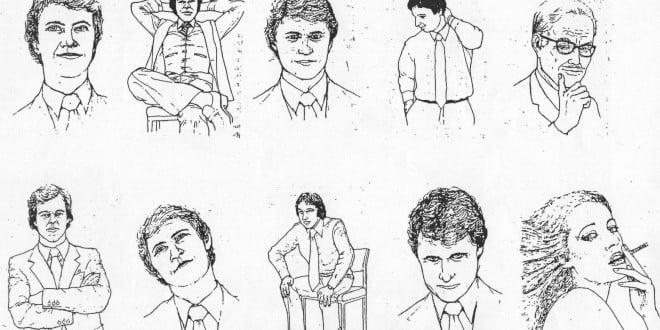 dibujos de gestos del lenguaje corporal