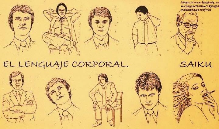 dibujos acerca del lenguaje corporal