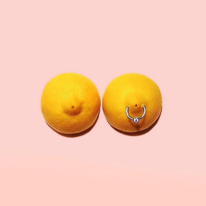 limones con un pearcing