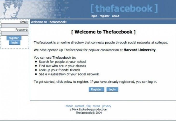 asi se veia facebook en el 2004