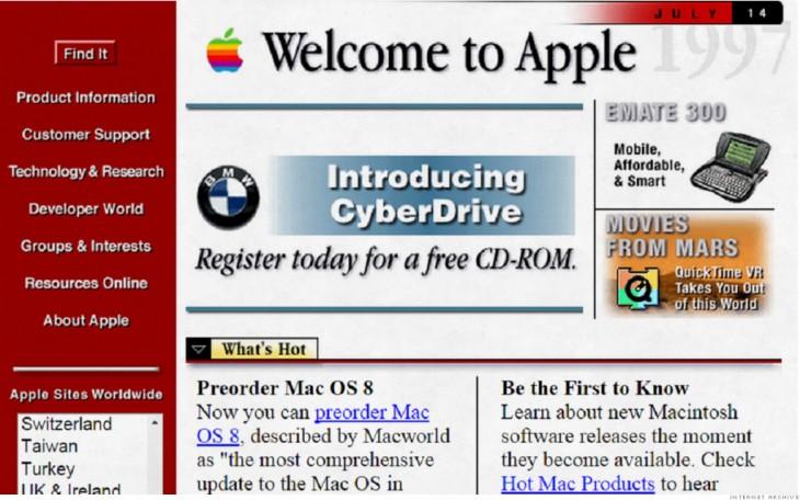 así se veía apple en 1996