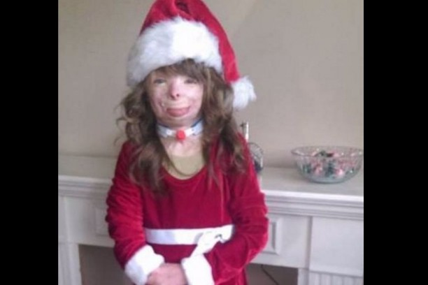 zafiro vestida de navidad