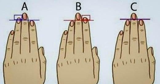 Con este test sabras mas a cerca de u personalidad y es con los dedos