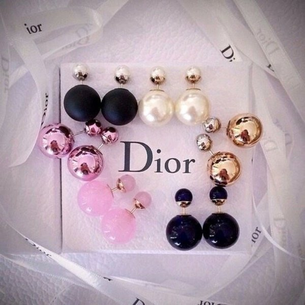 aretes marca Dior