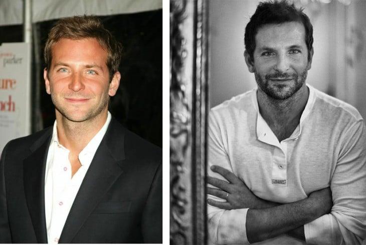 Bradley Cooper parece no cambiar conel paso del tiempo, todos los cambios le han sentado perfectos para su carrera