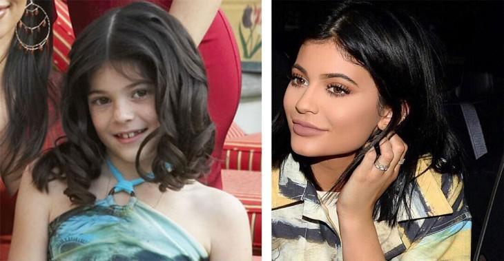 Kylie Jenner era apenas una niña cuando su familia comenzó a despuntar en el mundo de los reallity shows
