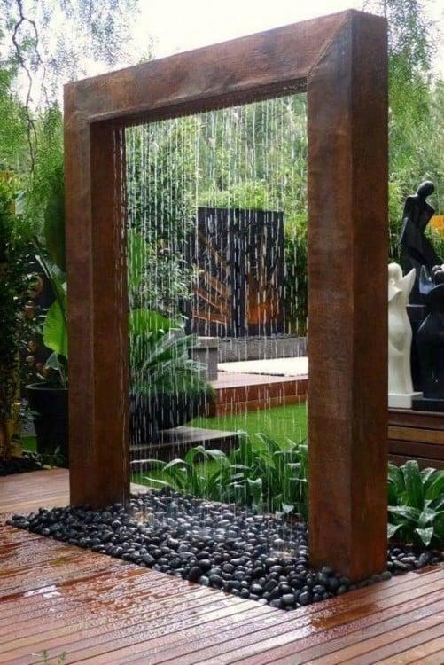 cascada artificial para jardín