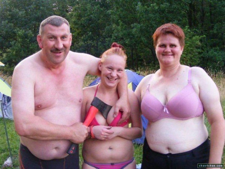 familia con un papá bastante loco
