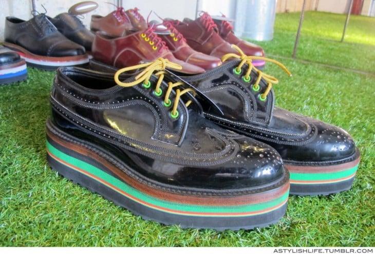 zapatos de plataforma combinados de bombita
