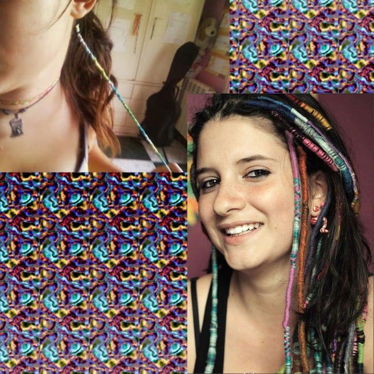 Hippie trenzas con hilo para el cabello