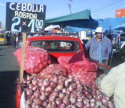 camioneta donde se vende cebolla robada