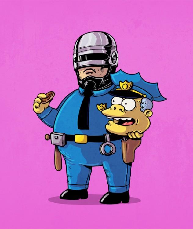 POLICIA DE LOS SIMPSON DESFRAZASO DE ROBOCOP
