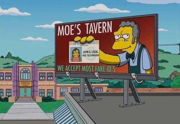 anuncios del bar de moe