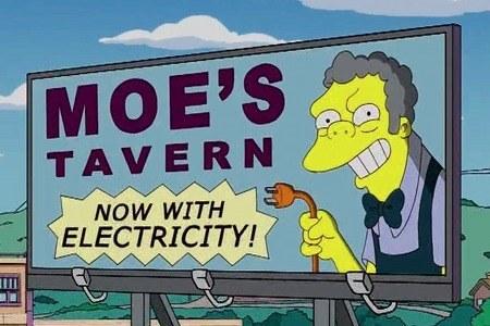 taverna de moe's en un anuncio más de publicidad