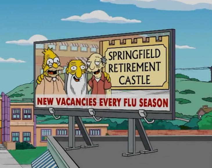 anuncio del asilo de springfield