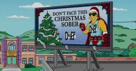 anuncio de la duff y la navidad