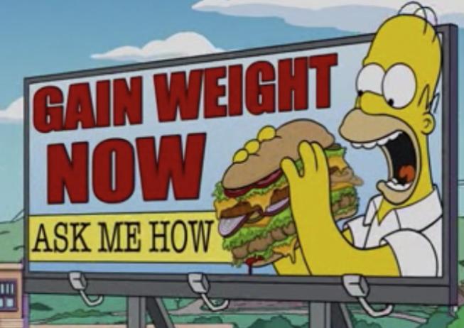 anuncio de homero comiendo