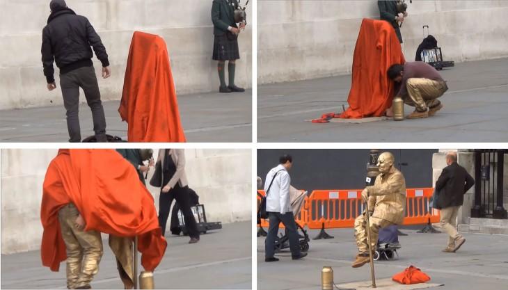 pasos para ser discreto en el truco de la levitación callejera