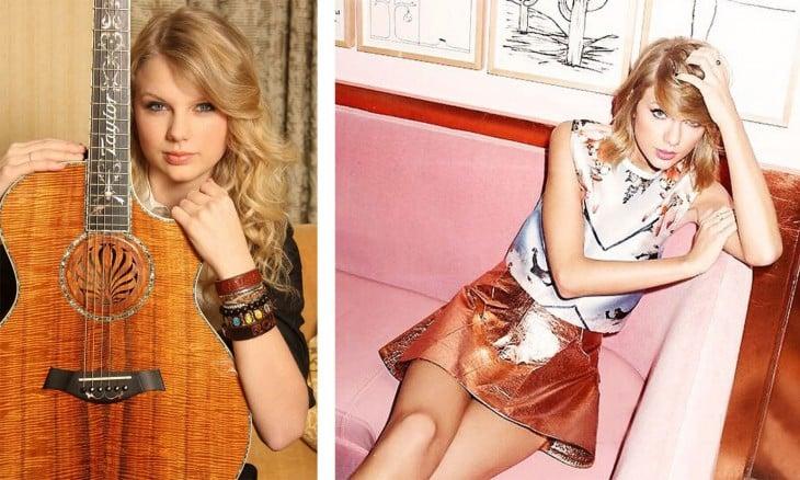 Taylor Swift pasó de ser una simple cantante de country a una verdadera estrella del pop en menos de una década