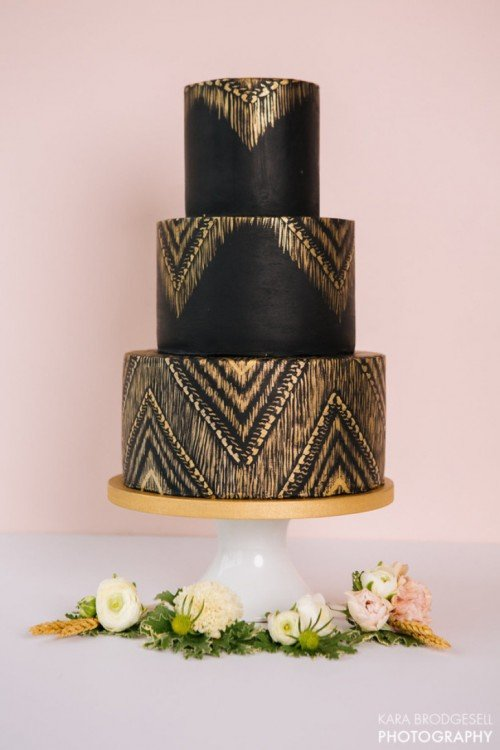 Chic Colourful Wedding Cakes