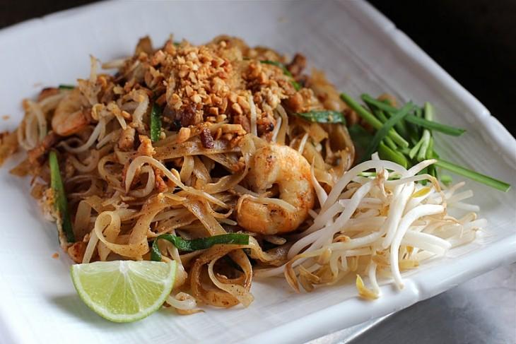 Los fideos picantes de tailandia son deliciosos