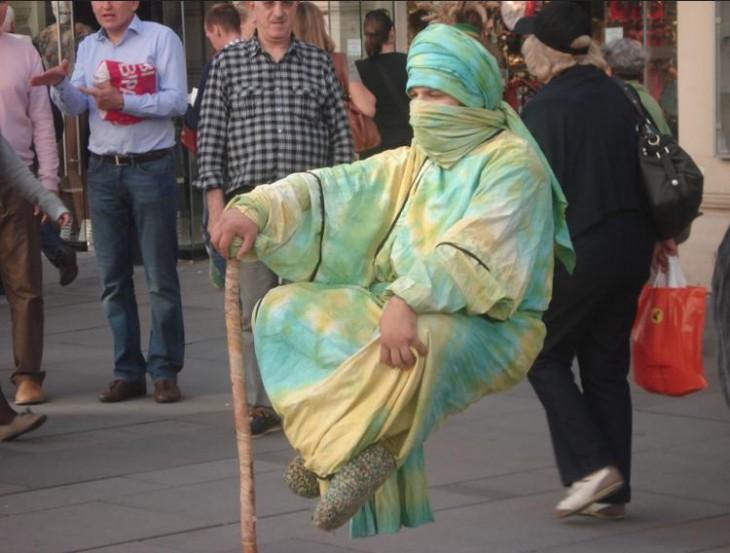 truco de la levitación urbana