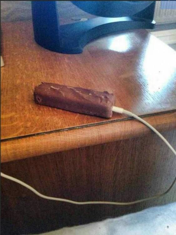 barra de chocolate para cargar tu ceriliito