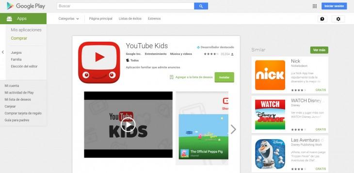 descargar aplicación YouTube Kids
