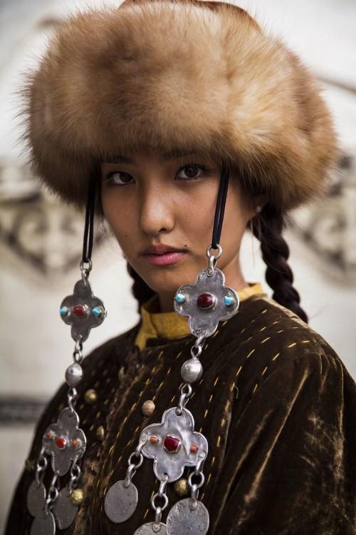 mujer del oriente de asia