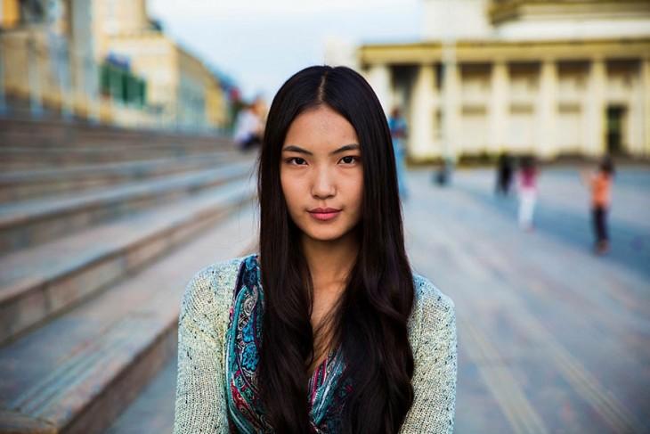 mujer de mongolia