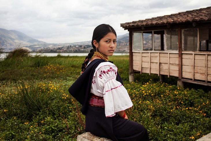 mujer indigene ecuatoriana