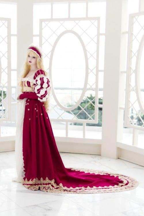 Angela Clayton chica de Nueva york que recrea vestidos de la edad media