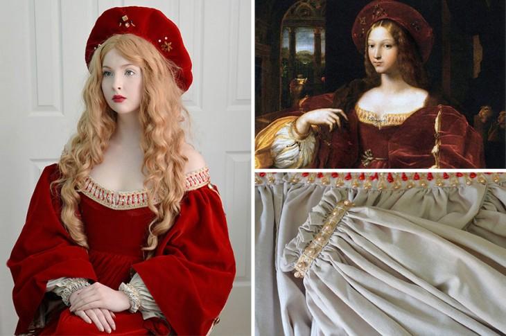 Angela Clayton recreó vestimenta del retrato de Doña Isabel de Requesens