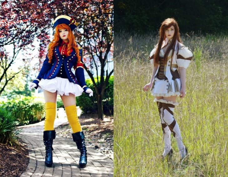 Angela Clayton vestida con personajes de cosplay