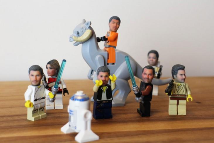 LEGOS CON CABEZAS IMPRESAS EN 3D