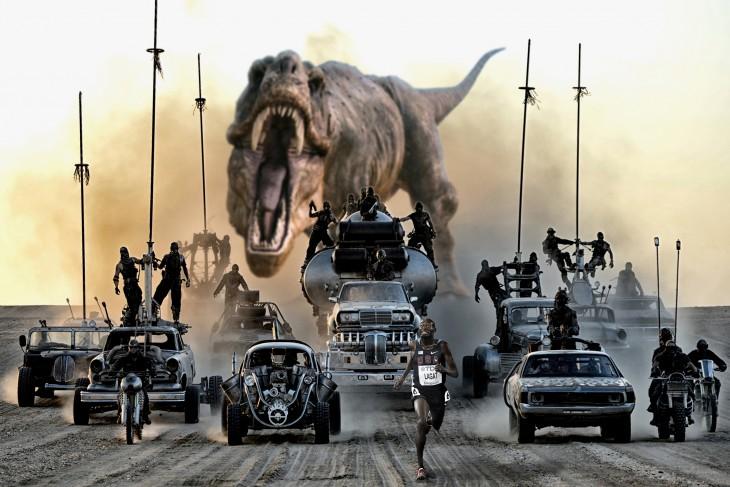 a los corredores y a los de mad max los persigue un t rex