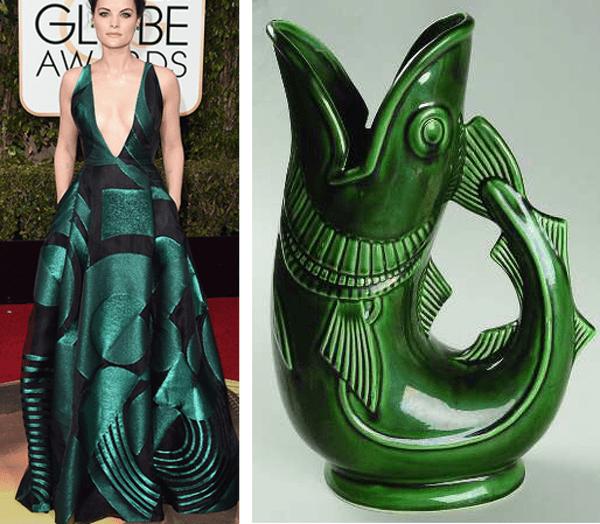 jaimie alezander vestida de color verde en los golden globes 2016