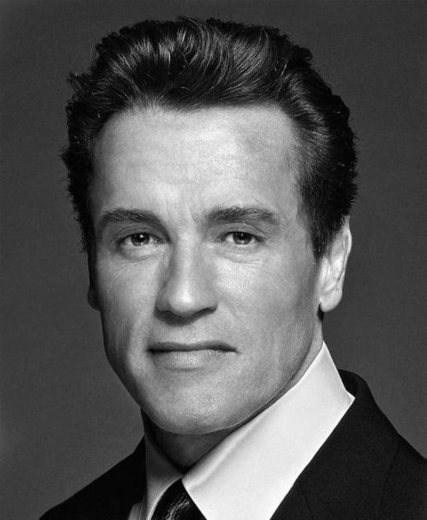 Cara mezclando los rostros de Arnold Schwarzenegger y Sylvestre Stallone