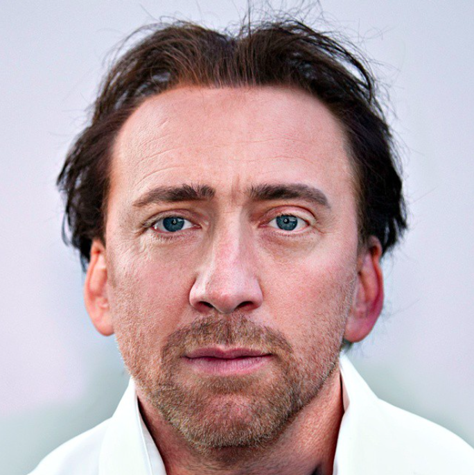 mezcla de los rostros Nicolas Cage & Boris Becker