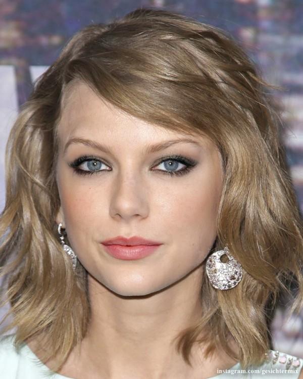 fusión de los rostros de Taylor Swift & Emma Stone