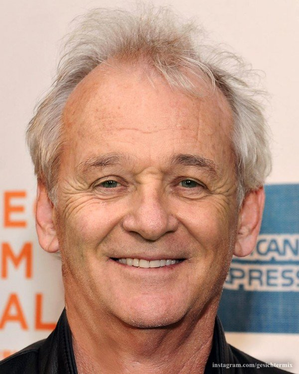 mezcla de los rostros de Anthony Hopkins & Bill Murray