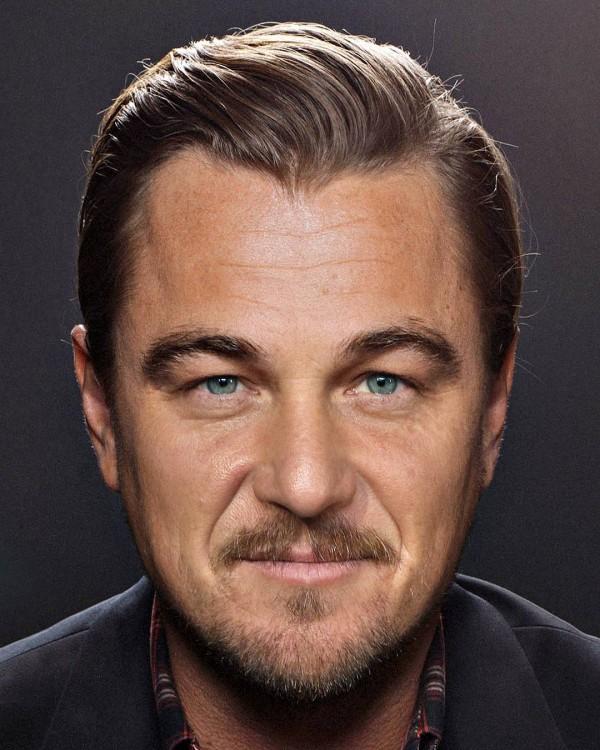 Fusión de las caras de Leonardo DiCaprio y Sean Penn