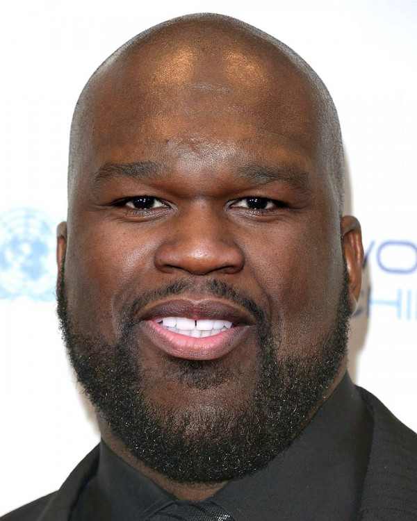 cara mezcla de las celebridades Saquille O´Neal y 50 Cent