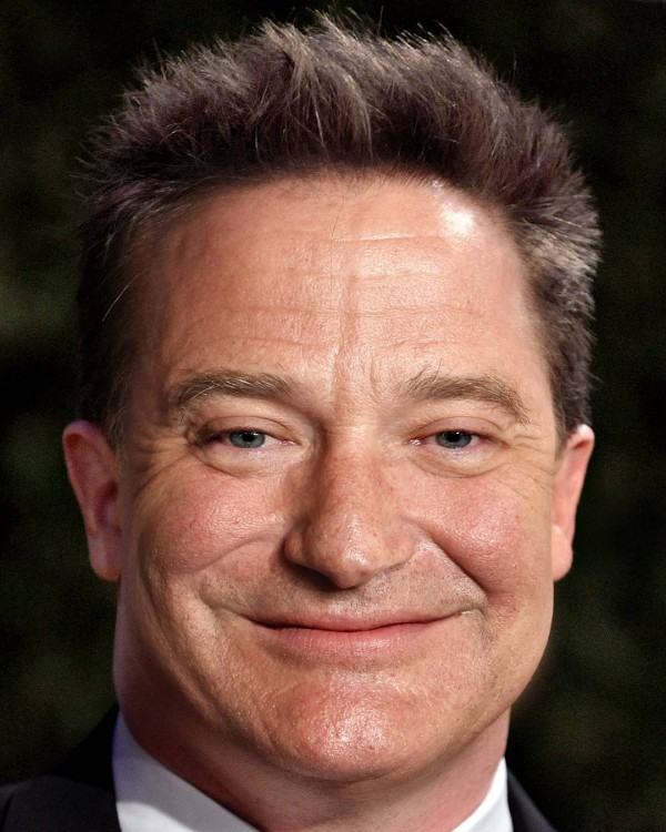 Mezcla de los rostros de Robin Williams & Brendan Fraser