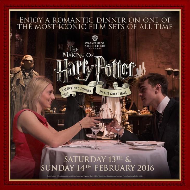 Poster de Warner Bros por la cena de San Valentín en Hogwarts este 2016