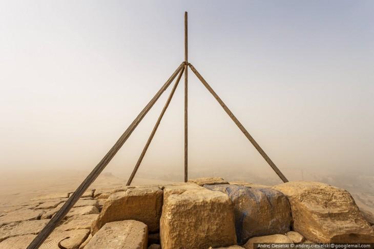 vista desde la cima de la pirámide Giza en Egipto
