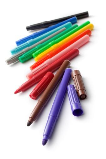 marcadores de colores viejos