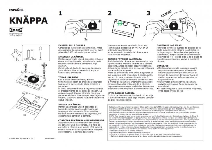 manual de instrucciones para una cámara
