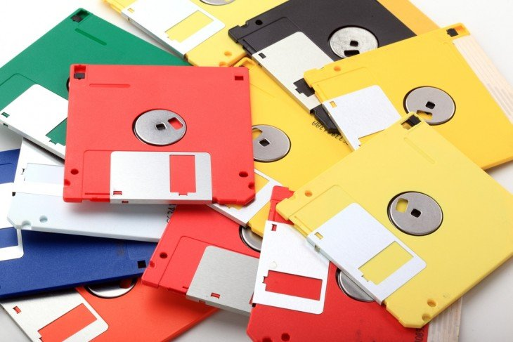 disquetes de colores