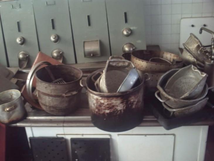 utensilios de cocina oxidados